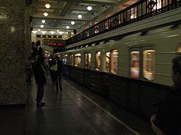 """""""Sokolniki"""" retro train at Komsomolskaya-radialnaya station (Ретропоезд """"Сокольники"""" на станции Комсомольская-радиальная) (4685771593)"""