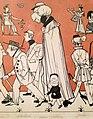 """""""Zug der Düsseldorfer Künstler"""" von 1837, Karikatur seiner malenden Zeitgenossen IV, Andreas Achenbach – Ausschnitt Johann Wilhelm Preyer.jpg"""