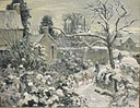 'Snowscape with Cows, Montfoucault', oil on canvas painting by Camille Pissarro.jpg