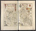 ((a)) Bedfordiensis Comitatvs; ((b)) Bvckinghamiensis Comitatvs - Atlas Maior, vol 5, map 17 - Joan Blaeu, 1667 - BL 114.h(star).5.(17).jpg