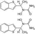 (±)-Zileuton Enantiomers Structural Formulae.png