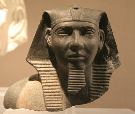 King Khafre. In Agyptisches Museum Georg Steindorff, Leipzig Agyptisches Museum Leipzig 035.jpg