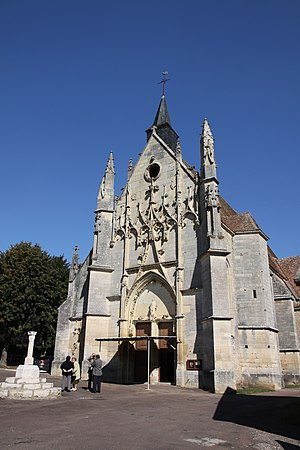 Saint-Père, Nièvre - The church in Saint-Père