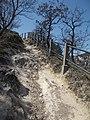 Ördög-orom Quarry Conservation Area. Difficult part. - Budapest.JPG