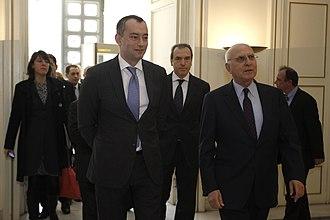 Bulgaria–Greece relations - Greek Foreign Minister Stavros Dimas and Bulgarian Foreign Minister Nickolay Mladenov.