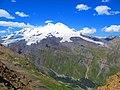 Вид с Чегета на двуглавы вулкан Эльбрус.JPG