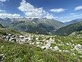 Вид с середины вершины Дигорских гор на ущелье в котором расположен курорт Порог неба.jpg