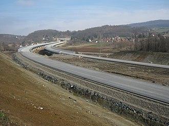A2 motorway (Serbia) - Image: Изградња ауто пута А2 у Шаранима 2016 001