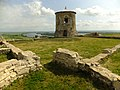 Остатки квадратной каменной цитадели с четырьмя башнями, предположительно возведённой князем Волжской Булгарии в X веке.jpg