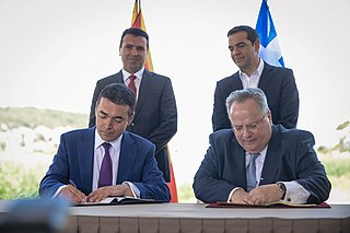 June 2018 agreement between Greece and North Macedonia