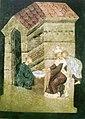 Пілат абмывае рукі. Фрэска ў замкавай капліцы ў Любліне 10.jpg