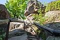 Скелі Довбуша. Сходинки на гору.jpg