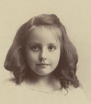 Maxa Nordau - Nordau in 1903, aged six