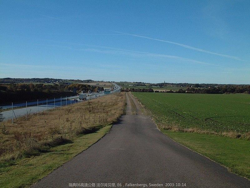 File:瑞典E6高速公路 法尔肯贝里, Falkenbergs - panoramio.jpg