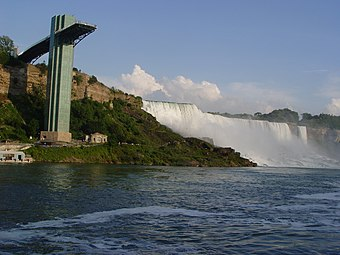 The Prospect Point Observation Tower (also known as the Niagara Falls Observation Tower). Mei Guo Ni Jia La Pu Bu 29.jpg