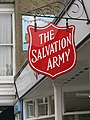 -2020-02-28 Sign outside the Salvation army charity shop, Church Street, Sheringham.JPG