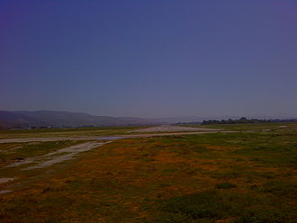 Ensenada Airport - View of the 11 Runway from the beach side