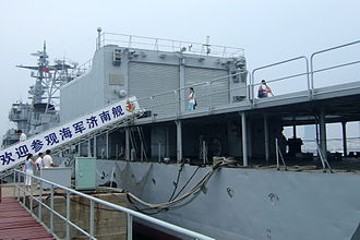 Type 051 destroyer - PLANS Jinan (105) Helicopter hangar