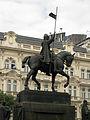 077 Estàtua de Sant Venceslau, a Václavské Náměstí.jpg