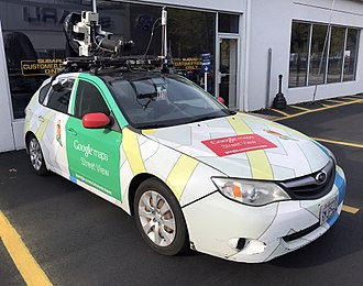 Google Street View - A Street View car parked at a Subaru Service Center in Jersey City, New Jersey