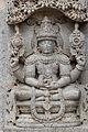 12th century Chennakesava temple at Somanathapura, Karnataka, India Meditating Vishnu.jpg