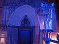 143 Catedral, portal de Sant Iu, i fanal, durant el festival Llum BCN.JPG