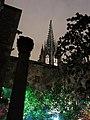 150 Pati del Museu Marès, al fons campanar de la Catedral, durant el festival Llum BCN.JPG