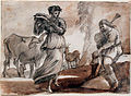 1648 Lorrain Tänzerin mit Tamburin und Dudelsackspieler anagoria.JPG