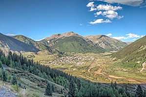 San Juan County, Colorado - Silverton as seen from US 550