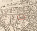 1743 TrinityChurch SummerSt Boston map WilliamPrice.png