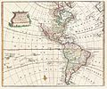 1747 Bowen Map of North America and South America ( Western Hemisphere) - Geographicus - America-bowen-1747.jpg