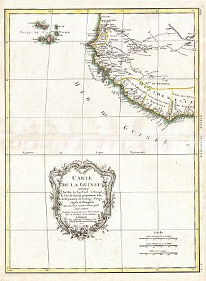 Alvise Cadamosto - Map of the Cape Verde islands and the Guinea coast, c. 1771