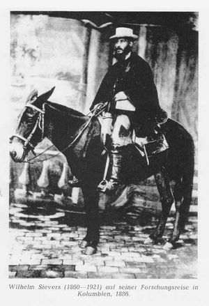 Wilhelm Sievers - During his first expedition to Colombia in 1886
