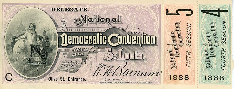 1888 National Democratic Convention Delegate Ticket