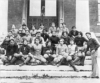 John Heisman - 1896 Auburn team, Heisman standing on the right