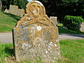 18th century gravestone, Burwash, Sussex.jpg