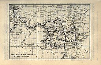 Chili Line - Image: 1903 Poor's Denver and Rio Grande Railroad