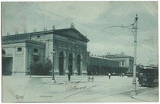 Graz Hauptbahnhof - Original station from 1876 (destroyed in 1945)