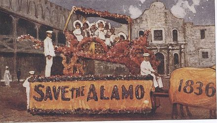 This 1907 postcard entreated citizens to Save the Alamo. 1907 postcard Save the Alamo.jpg
