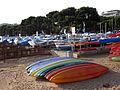 190 Platja de Sant Feliu de Guíxols, taules de surf i barques.JPG