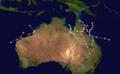1911 Australian region cyclone season summary map.png