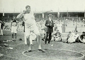 Athletics at the 1912 Summer Olympics – Men's two handed shot put - Image: 1912 Ralph Rose 2