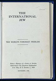 The International Jew, the World's Foremost Problem. Articles from The Dearborn Independent, 1920