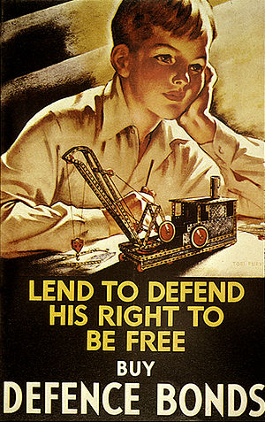 National Savings Movement - A 1940 poster by Tom Purvis for the National Savings Committee.