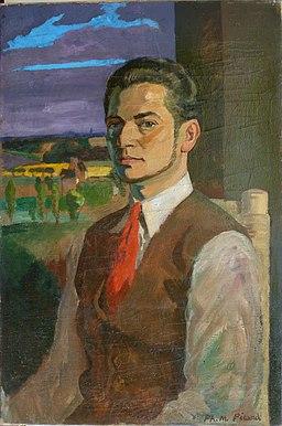 1942 Jllet Autoportrait 81 x 54, encadré a