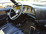 Shows the Javelin's driver-centered interior