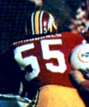 Chris Hanburger - Hanburger playing for the Redskins in Super Bowl VII