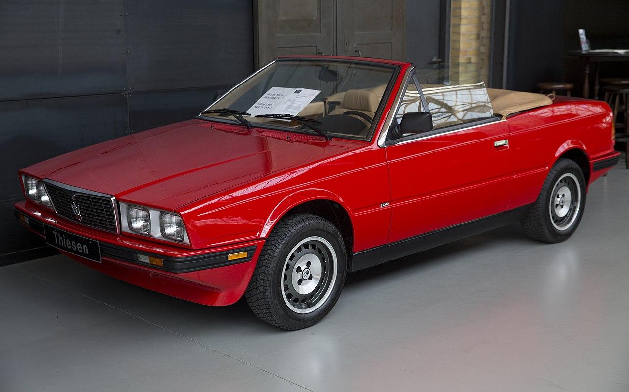 File:1988 Maserati Biturbo Spyder i, front left.jpg ...