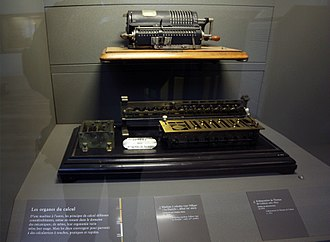 Mechanical calculator - 19th and early 20th centuries calculating machines, Musée des Arts et Métiers