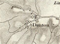19th century map of Dunton, Buckinghamshire.PNG